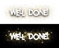 Well done paper banner. Well done paper banner with shining sand. Vector illustration vector illustration