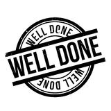 Well Done rubber stamp Royalty Free Stock Photo
