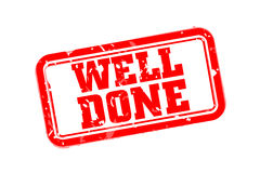 Well done rubber stamp Stock Photo