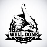 Well done. Seal over gray background vector illustration royalty free illustration