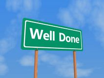 Well done sign Royalty Free Stock Photos