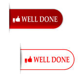 Well done signs Royalty Free Stock Images