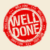 Well done stamp. Well done vector rubber stamp royalty free illustration