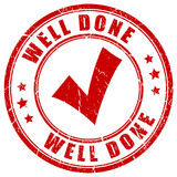 Well done stamp. On white background Royalty Free Stock Image