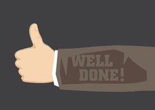 Well Done Thumbs Up Vector Illustration Royalty Free Stock Images