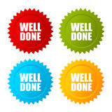 Well done vector star icon Stock Photo