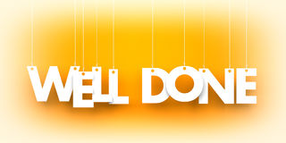 Free Well Done. White Word On Orange Background Stock Photography - 95001632