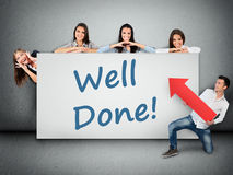 Well done word on banner Royalty Free Stock Image