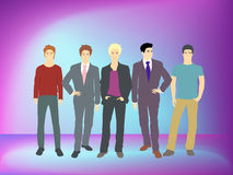 Well dress young men Royalty Free Stock Images