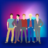 Well dress young men Royalty Free Stock Photography