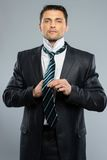 Well-dressed handsome man Stock Images