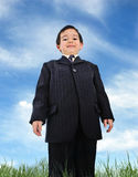 Well dressed kid (business) stock images