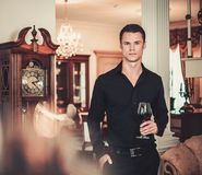 Well-dressed man in luxury house interior Royalty Free Stock Photo