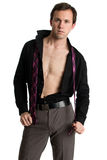 Well Dressed Man... Undressing royalty free stock images