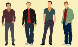 Well dressed men. Four well dressed adult males Stock Photos