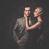 Well-dressed retro couple Royalty Free Stock Image