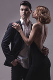 Well-dressed retro couple Stock Photography