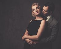 Well-dressed retro style couple Royalty Free Stock Images