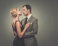 Well-dressed retro style couple Stock Image
