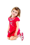 Well-dressed small girl isolated Stock Photo