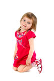 Well-dressed small girl isolated Stock Photos