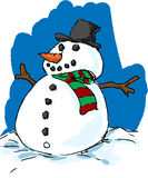 Well dressed snowman Royalty Free Stock Photo