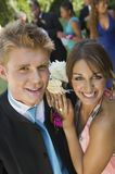 Well-dressed Teenagers At School Dance Stock Image