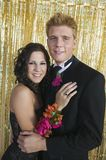 Well-dressed teenagers at school dance portrait Royalty Free Stock Images