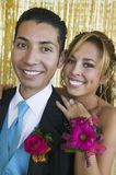 Well-dressed teenagers at school dance portrait Royalty Free Stock Photography