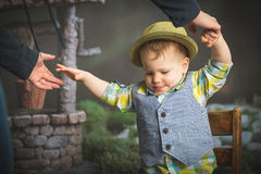 Well Dressed Toddler Boy Royalty Free Stock Images