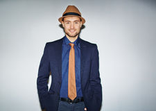 Well-dressed young man Royalty Free Stock Images