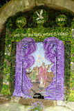 Well Dressing, Tissington, Derbyshire. Royalty Free Stock Images