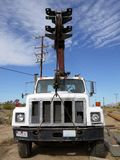 Well-drilling truck: front view stock photo