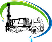 Well drilling truck logo Royalty Free Stock Photo