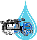 Well drilling truck logo Stock Images