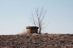 A well in the field Royalty Free Stock Image