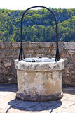 Well in the fort. Well in the Knin fortress on the hill, Croatia Royalty Free Stock Photos