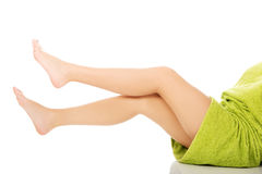 Well groomed female legs. Stock Images