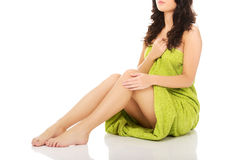 Well groomed female legs. Royalty Free Stock Photo