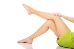Well groomed female legs. Stock Photos