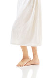 Well groomed female legs wrapped in towel Stock Photos
