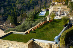 Well-groomed yard in Provence. France Royalty Free Stock Image