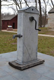 Well hand pump. An antique pump at Whitehaven, home to future president Ulysses S. Grant and his wife Julia. Whitehaven is maintained by the National Park Stock Image