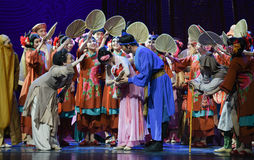 """Well intentioned blessing-Dance drama """"The Dream of Maritime Silk Road"""". Dance drama """"The Dream of Maritime Silk Road"""" centers on the plot of two Royalty Free Stock Photography"""