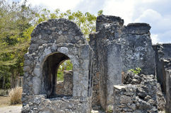 Well, Kaole Ruins, Bagamoyo. A well at the Kaole Ruins, Bagamoyo, Tanzania - a 13th century trading post and the first in East Africa Stock Image