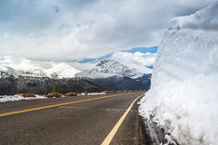 Well kept road in Rocky Mountains National Park Royalty Free Stock Image