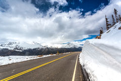 Well kept road in Rocky Mountains National Park Royalty Free Stock Images
