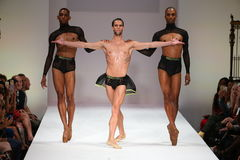 Well known ballet dancers closes the Marco Marco fashion show during Spring 2016 Stock Images