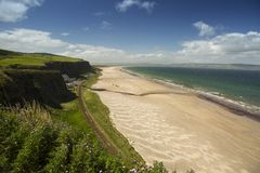 Down Hill beach north ireland. Well known beach in northern ireland on a sunny day Royalty Free Stock Images