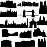Well-known British building. British's famous historic buildings and world cultural heritage Royalty Free Stock Images